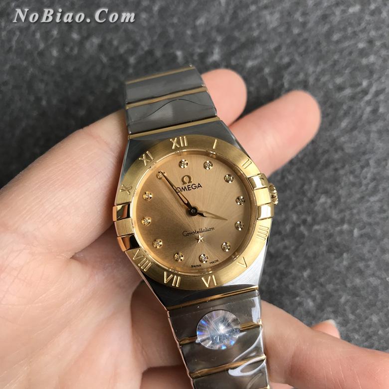 AF厂欧米茄星座28毫米女士石英复刻手表(十三)