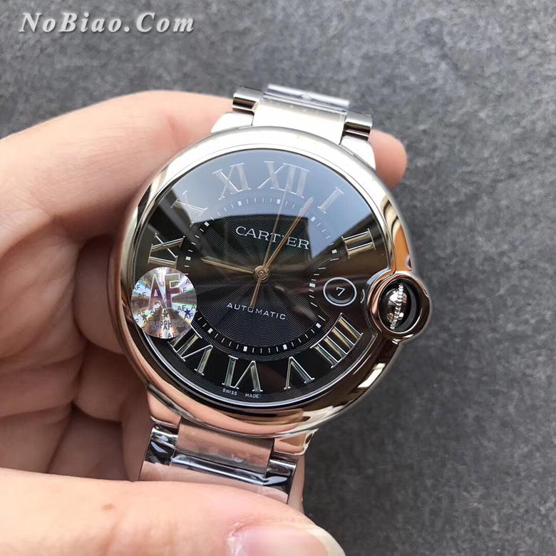 AF厂卡地亚大号蓝气球黑面42毫米W6920042钢带版复刻手表