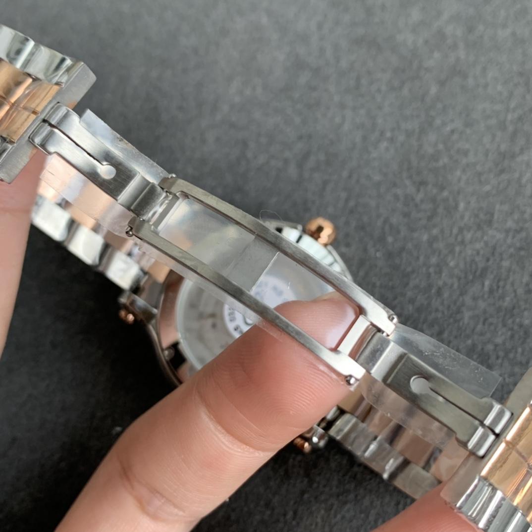 YF厂萧邦Happy Sport快乐钻石系列烟熏面复刻手表 蓝面钢带款