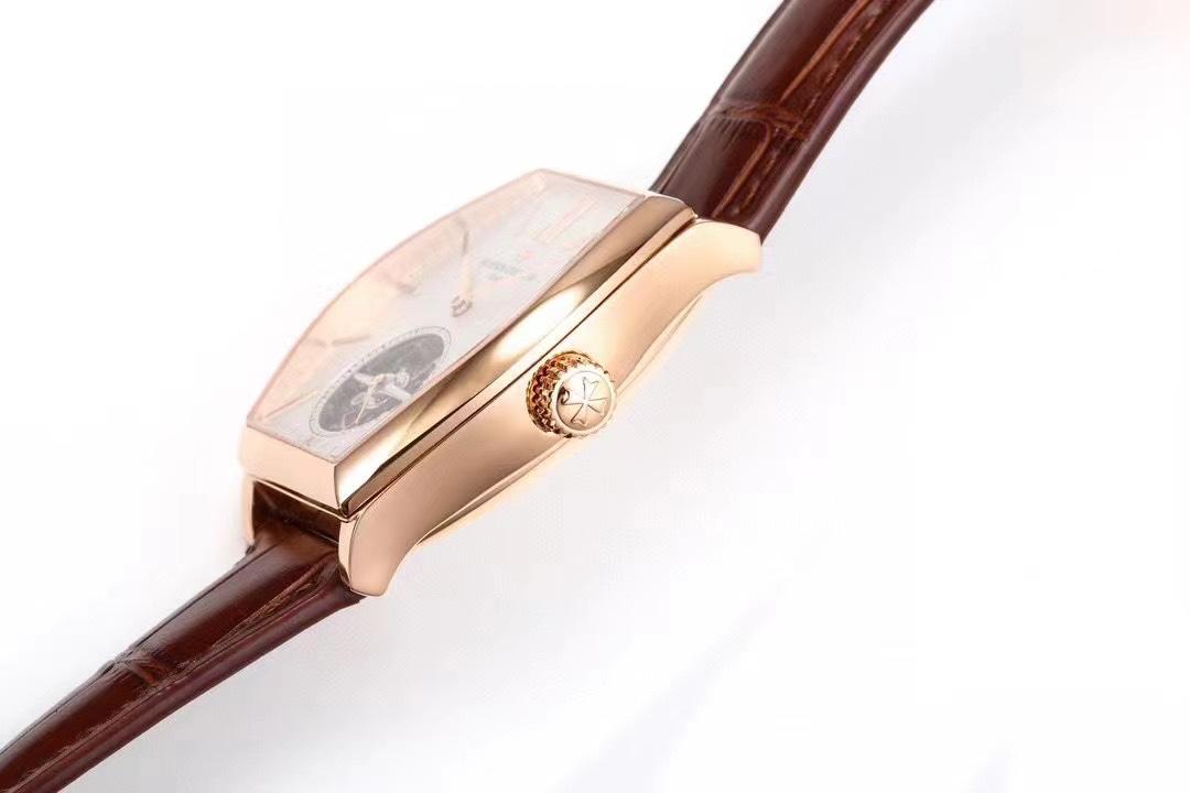 VCR厂江诗丹顿马耳他系列白面玫金壳陀飞轮复刻手表