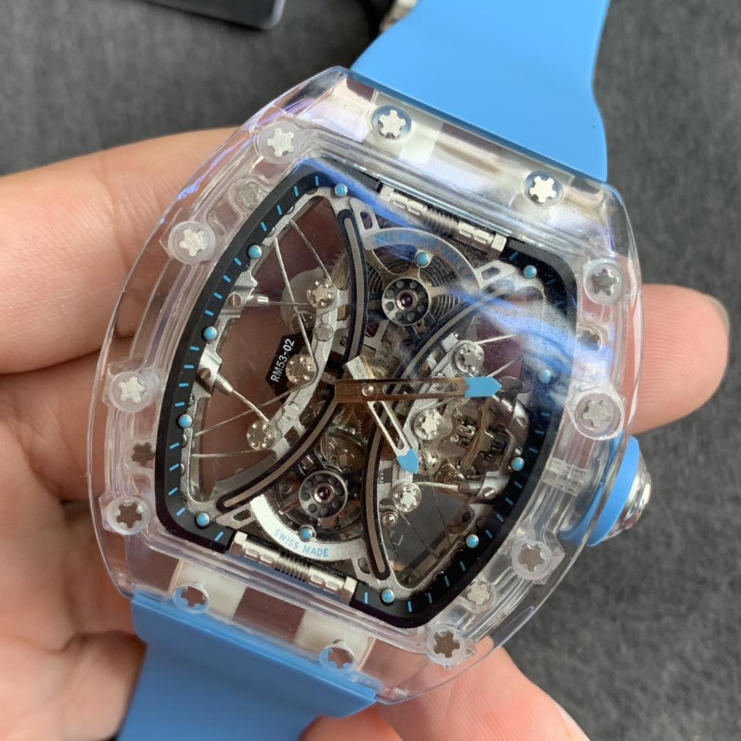 RM厂理查德米勒RM 053-02水晶马球陀飞轮精仿手表