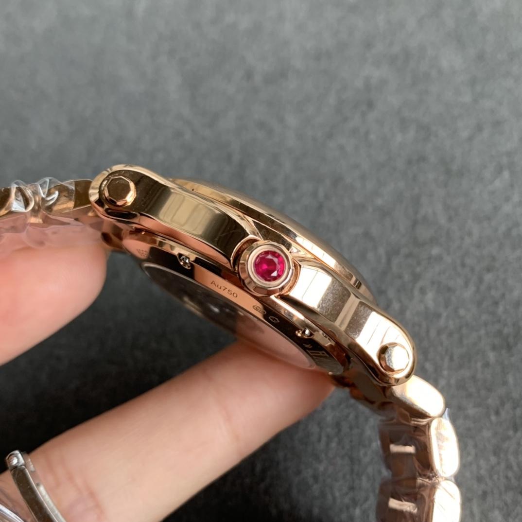 YF厂萧邦Happy Sport快乐钻石系列烟熏面红面钢带款复刻手表